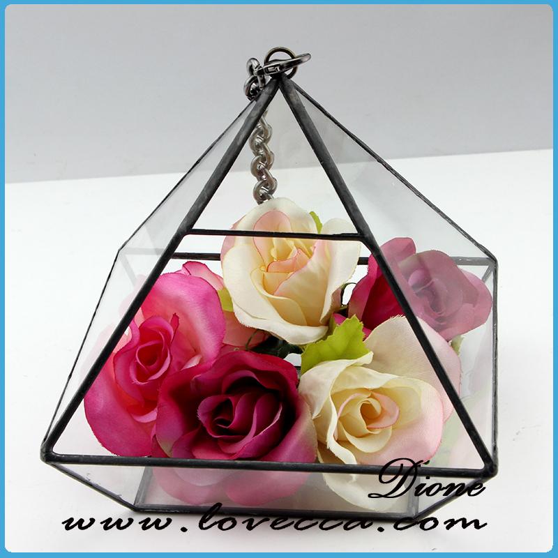 geometric diamond shape air plant succulent glass container vase pot  terrarium - Air Plant Glass Containers. Small Triangle Terrarium Container