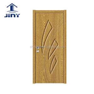 2017 new design quality interior pvc mdf design jiangshan door enter room pvc hdf door