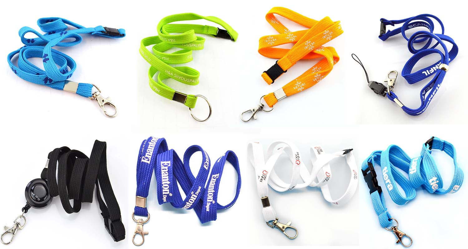 Free Sample lanyard custom printed pen and plastic breakaway accessory neck notebook flat lanyard