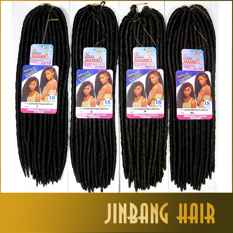 Factory Cheap Price 100gram/pack synthetic dread 18inch more color long fauxlocs braid hair locks