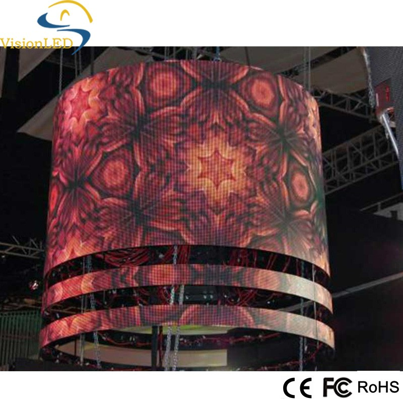 CE FCC indoor P7.62 Full Color LED Flexible display screen Sign