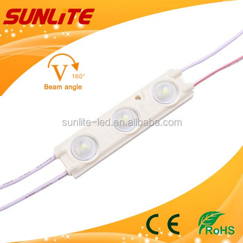 2pcs smd 2835 new injection module , 1.08W, 12V, optical lens 160 degrees