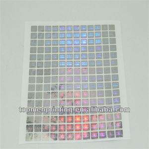 Self-adhesive irridescent plain round a4 laser shine sticker