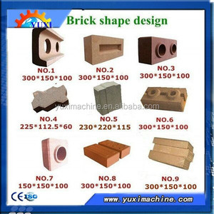 Building material for construction Clay interlocking pressed brick making machine