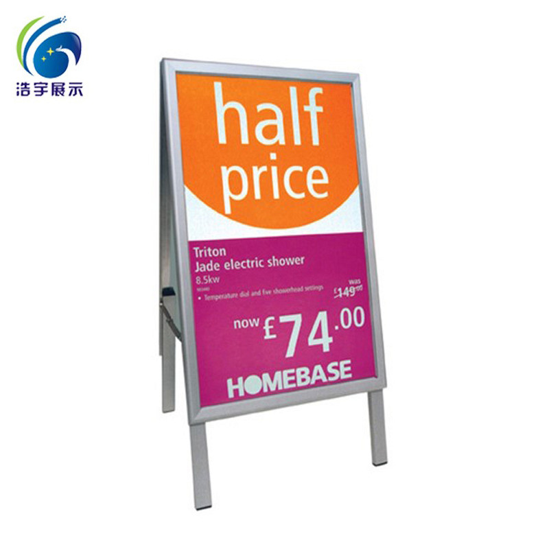 2017 hot sales! high quality! A1 outdoor advertising board/floor standing poster stand/double sides
