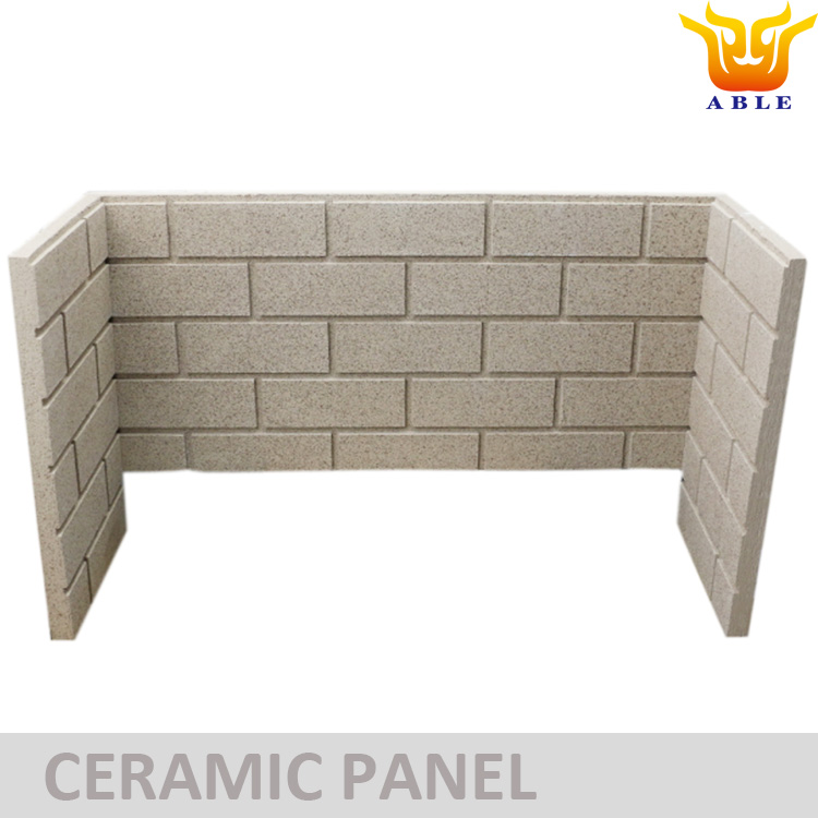 Ceramic Board Brick Panel for Gas Fireplace Insulation wall