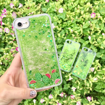 official photos aed1f 9cf41 New 2017 Summer Fruit Series Watermelon Glitter Liquid Phone Case For  Iphone 6 6 Plus 7 7 Plus - Buy Watermelon Liquid Phone Case For Iphone ...