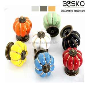 Colourful and pink yellow knob,bed knob,bone knob