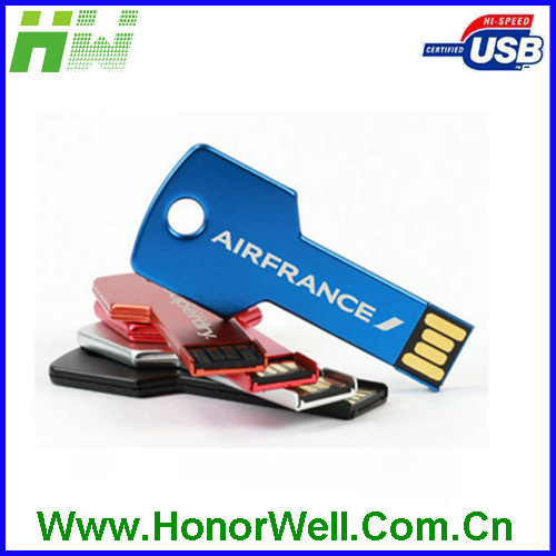 Wholesale Mini Metal Key Shape Pen Drive,USB 2.0 Flash