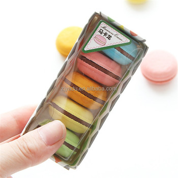 Candy cake eraser macarons sandwich biscuits shape erasers