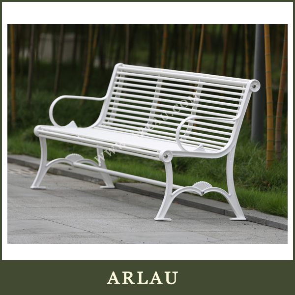 (FS184) Arlau Outdoor 2 Seater Steel Bench,Cast Iron Chairs,Wrought Iron Kids Garden Bench