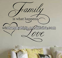 Removable Vinyl Wall Quote Saying,Wall Sticker Decal for Home Decoration