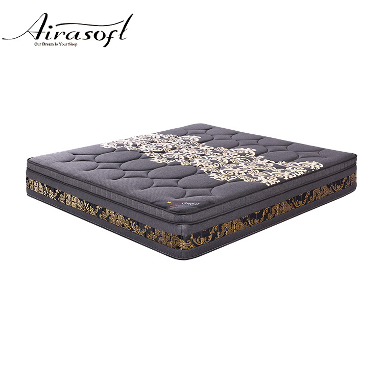 Luxury knitted fabric bagged pocket spring love america bed mattress