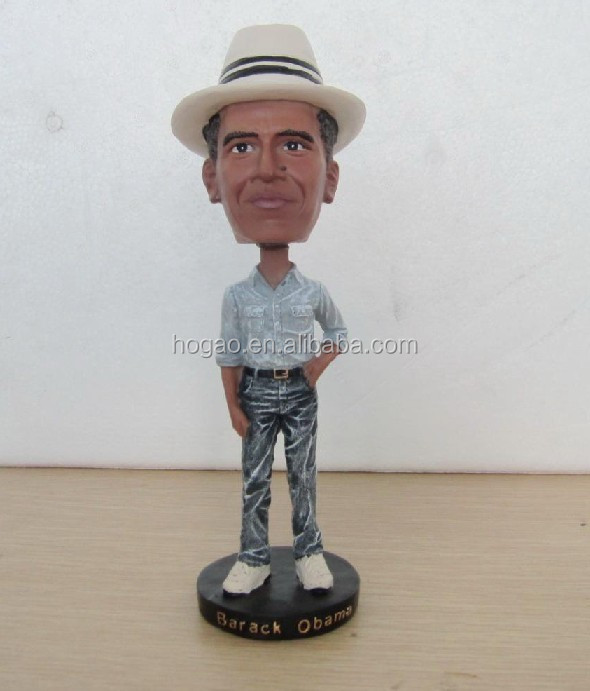 personalized resin obama bobble head