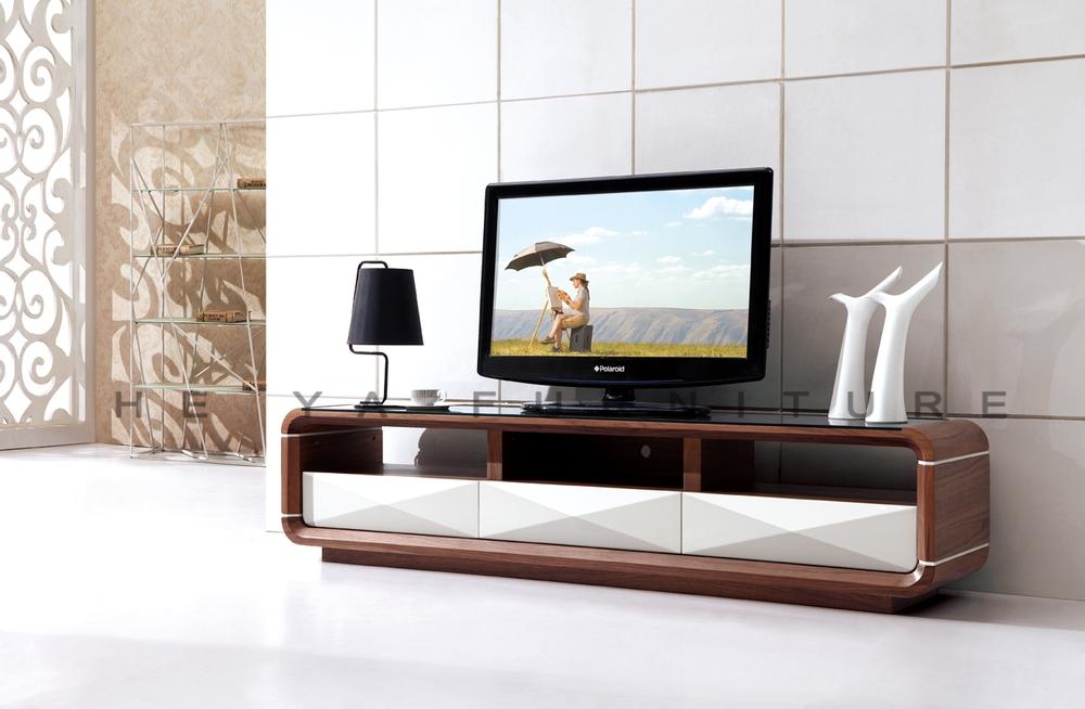 noyer bois verre tv support de table plasma tv de table en. Black Bedroom Furniture Sets. Home Design Ideas