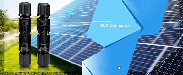 IP65 Copper Silver Solar PV MC4 Y Branch Connector