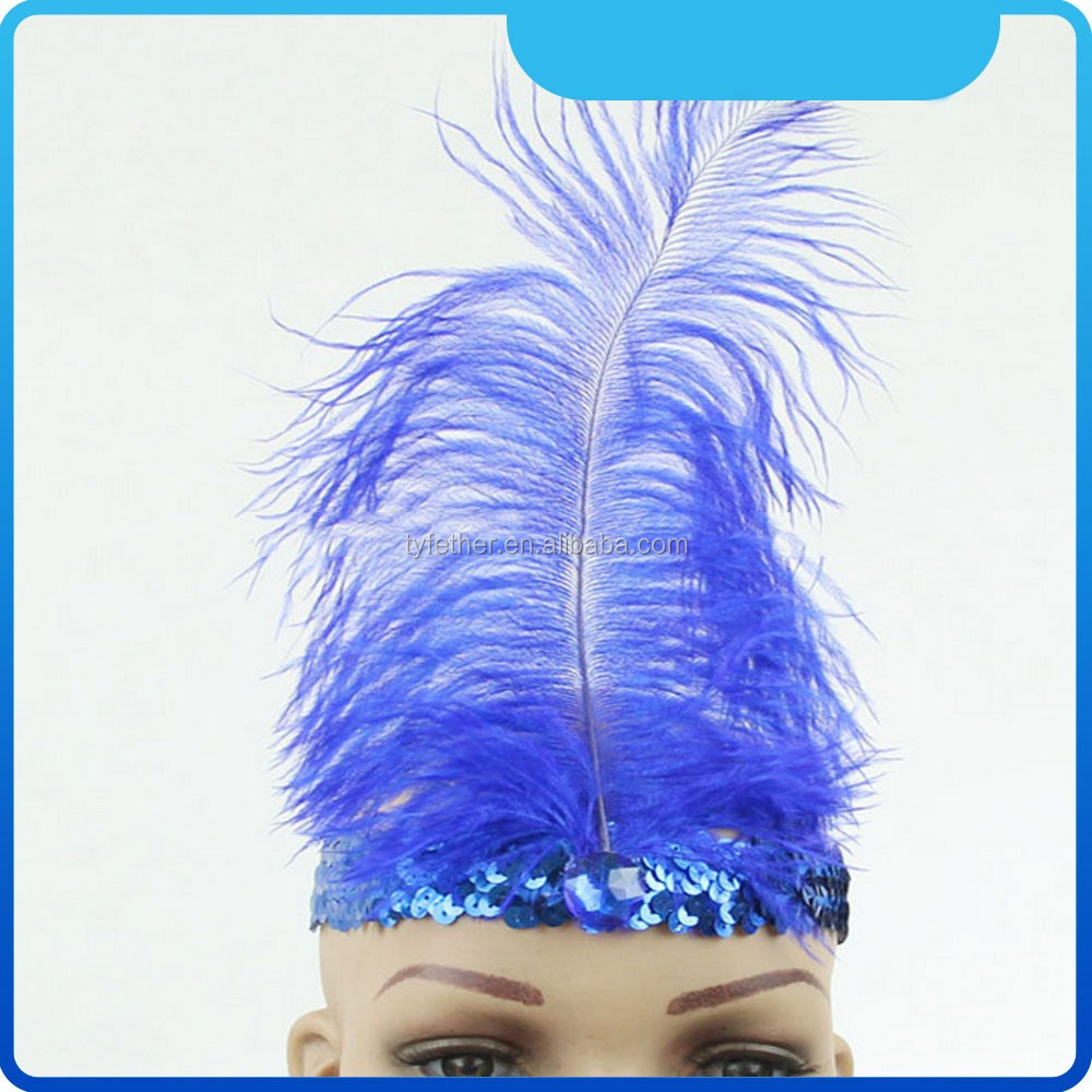 feather headpiece carnival artificial ostrich feathers for garment