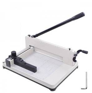 """Manual Guillotine Style Paper Cutter: 12"""" Heavy Duty Trimmer"""