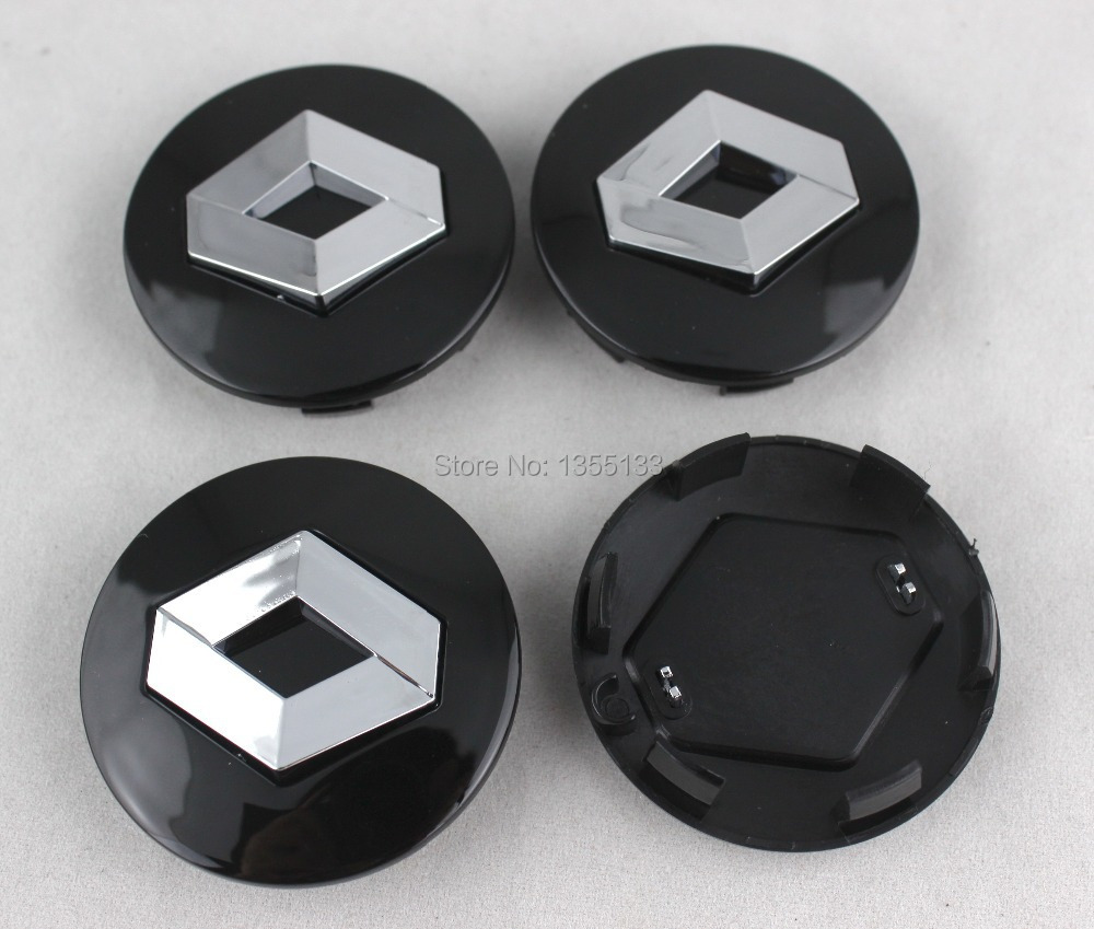 4pcs renault 57mm chrome badge wheel center caps cover for renault scenic mk1 rx4 megane clio. Black Bedroom Furniture Sets. Home Design Ideas