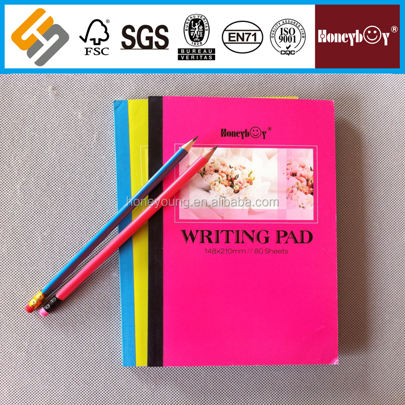 Bulk producing high school soft cover writing pad to school