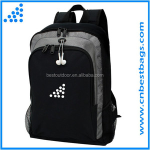 men's sport backpack with earphone port leisure daypack