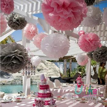 Whole Wedding Cake Decoration Table Pom Centerpiece
