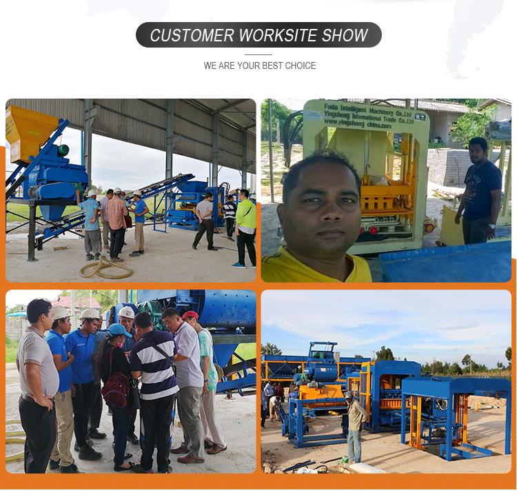 QT6-15 New condition concrete sand brick raw material block making machine