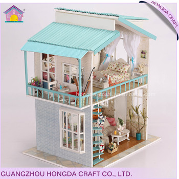 Paper Doll House Wooden Models Toys