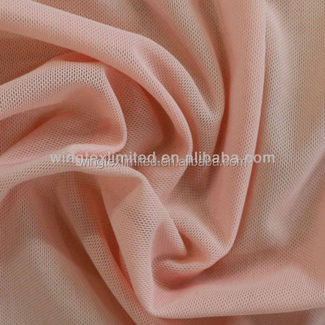 85% polyamide 15% spandex knitted plain power net mesh fabric for saree
