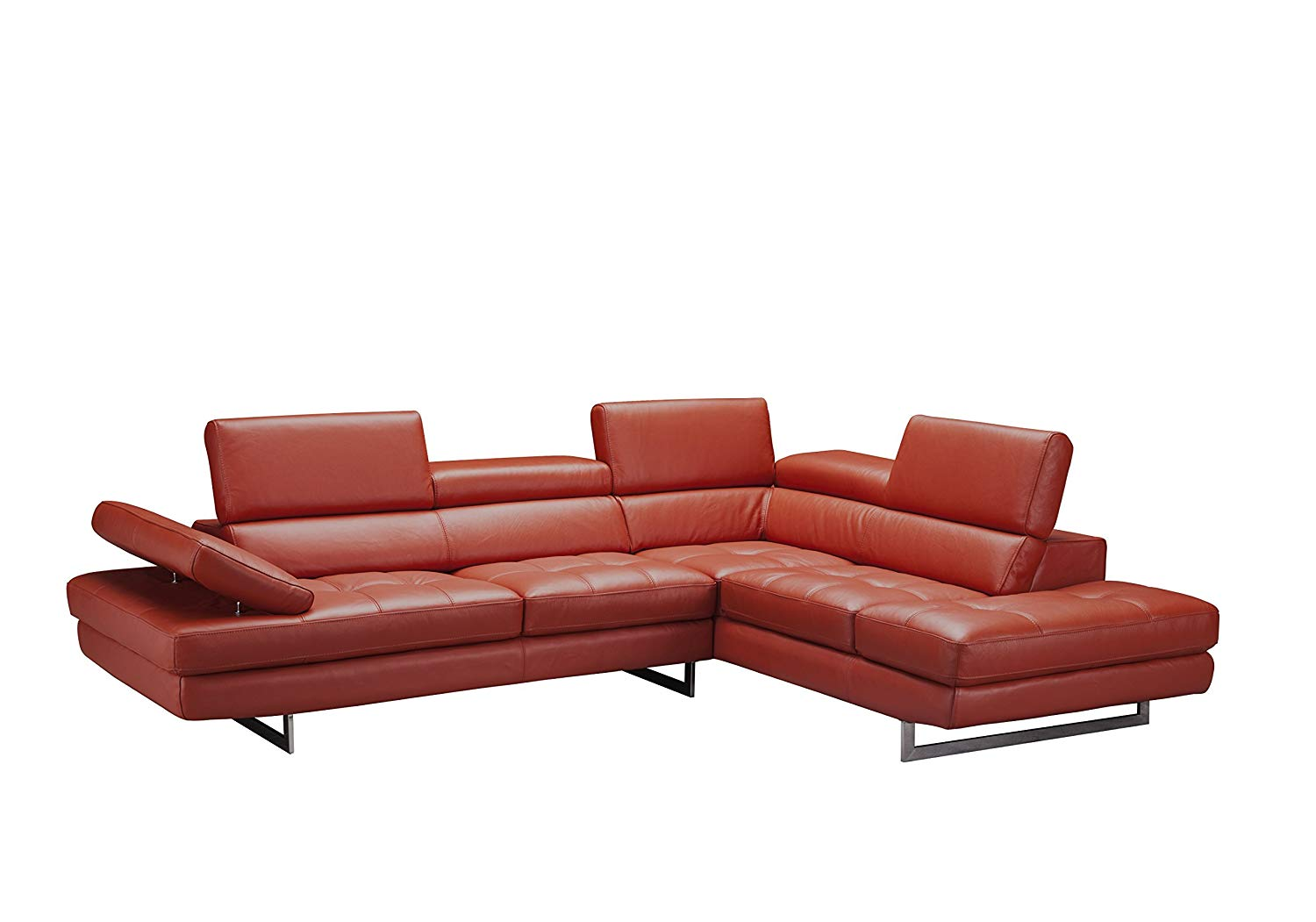 J and M Furniture 188553-RHFC Venus Rhf Chaise Premium Leather Sectional