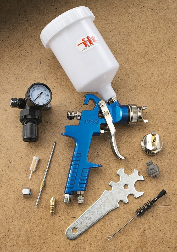 IIT 14265 HVLP Gravity Fed Spray Gun,