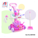 Hot selling kids sanitary ware lovely pink cleaning play set toy