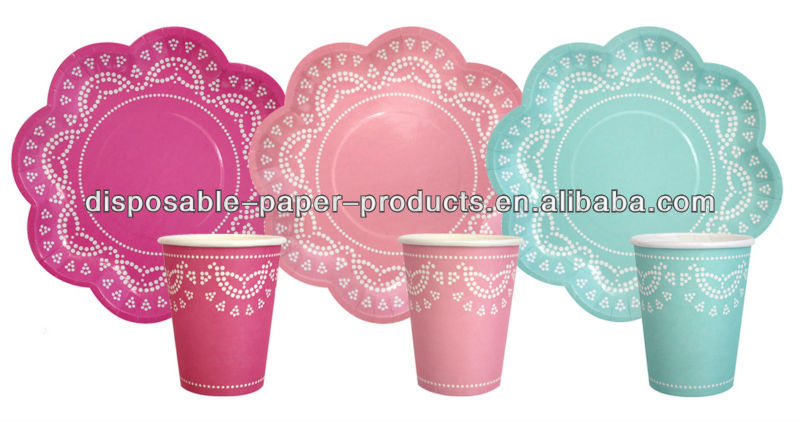 Lace Paper Plates And Cups Scallop Lovely Lace Paper Plates Party Cups Glasses - Buy Lace Paper Plates And CupsScallop Lace Paper CupsLovely Lace Paper ...  sc 1 st  Alibaba : pink disposable plates - pezcame.com