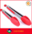 Premium stainless steel with silicone tips for BBQ/cake/meat heavy duty silicone kitchen tongs silicone tongs for cooking