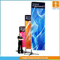 Customized teardrop flag pole for indoor