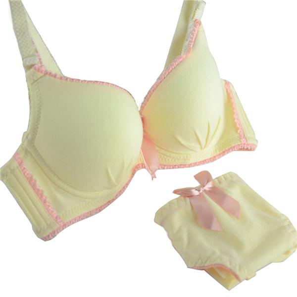 91a4a76aa7 Get Quotations · May New Women Underwire Bra+Knicker Girl 2PCS Bra Set  Padded Underwear Brassiere 32-