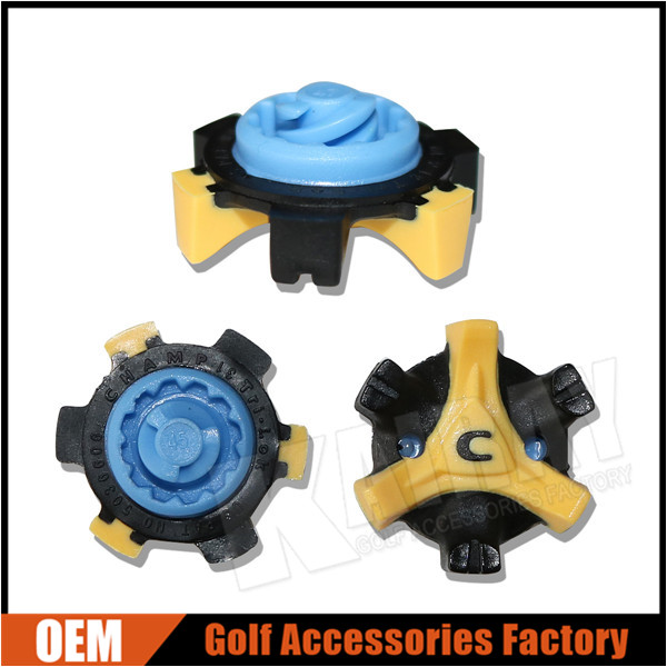 Custom Plastic Golf Shoe Spikes, Golf Shoes Cleat