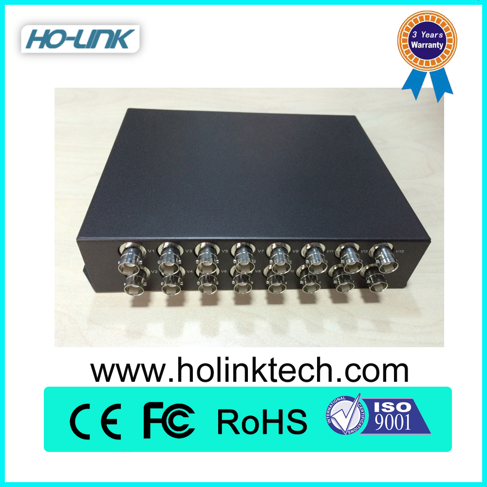 ip to analog converter analog cctv camera,cctv analog to digital converter,16 Ch Forward Video+1 Ch Reverse RS485 Data