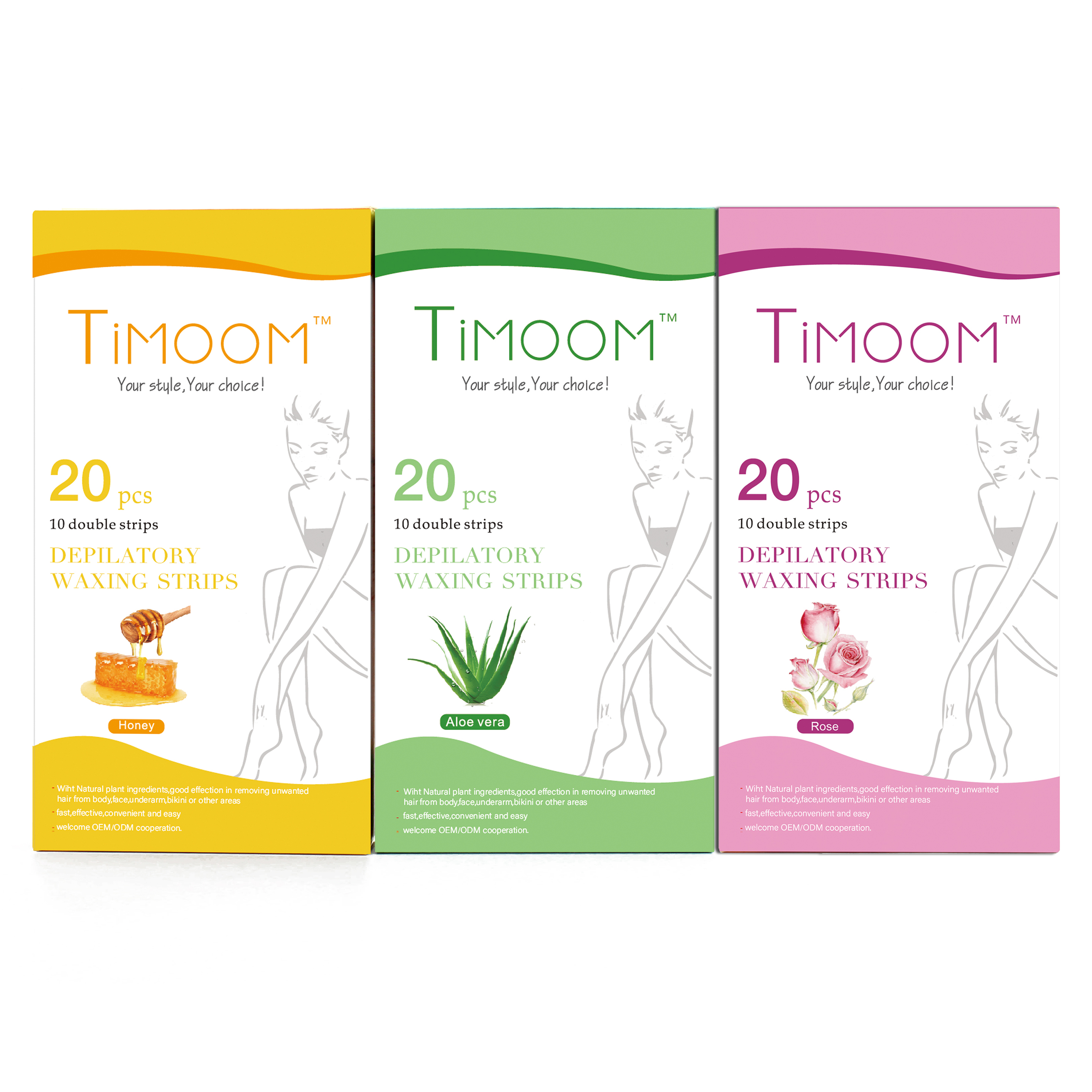 TIMOOM 20 stks Ontharing Ontharingscrème Waxen Strips Cold Wax Strips