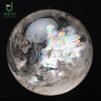 Wholesale very pretty natural clear rainbow ball quartz rock crystal sphere