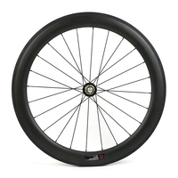 U shape 60mm Road Bike Carbon Wheelset 700C Tubular Rim Road Bicycle Carbon Wheels