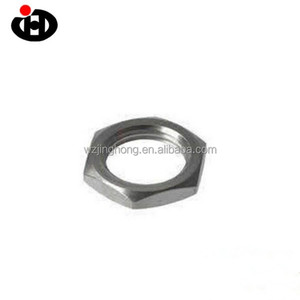 New Top Quality Fine Pitch Thread Hexagon Half Lock Thin Nuts Steel Nuts