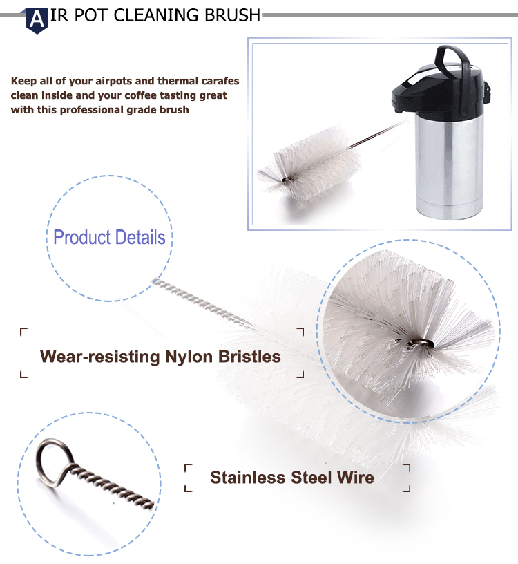 3 in 1 Coffee Machine Brush Cleaner Nylon Espresso Machine Brush Coffee Cleaning Tool
