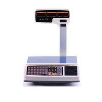 1000 PLUs storage weighing scale with receipt printer with RJ11 port and cash drawer together special for pos register system
