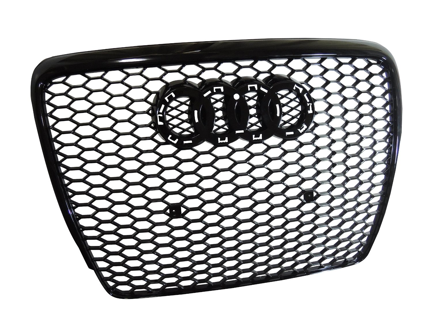 RS6 Style Honeycomb Hex Hex Black Mesh Front Grill Upper Bumper Grille Fits for Audi A6 C6 facelift 2008 2009 2010 2011