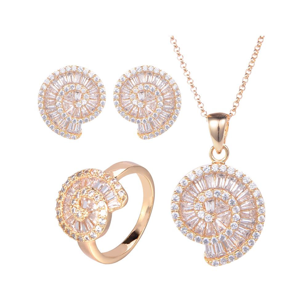 Gravity Hot selling Unique Elegant luxury saudi dubai 24k gold plated jewellery sets