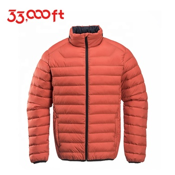 high quality light short folding down jacket self-recovering lightweight down jacket & U-shaped pillow