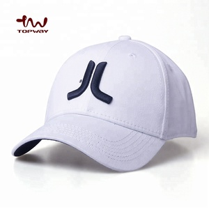 Adult Size 58CM 6 Panel White Embroidered Baseball Flexfit Cap
