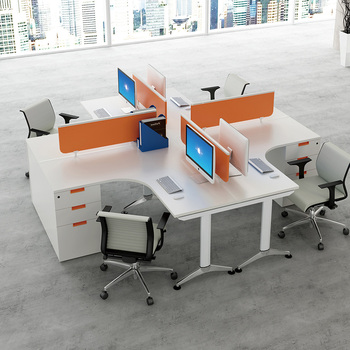 Modern Office Furniture Desk 4 Person Office Workstation Buy Workstation Office Workstation 4 Person Office Workstation Product On Alibaba Com