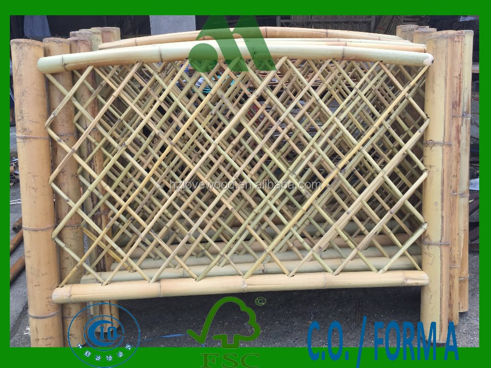 Bamboe fencing panel bamboe balustrade tuin hek muur raiiling hekwerk trellis en poorten - Bamboe hek ...